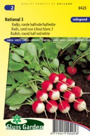 Radish National 3 (half red/white)
